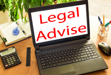 Legal advice. Concept office