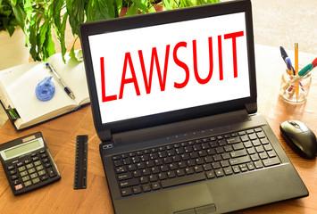 Lawsuit. Concept office