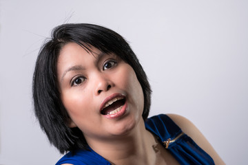 Woman Surprised Expression
