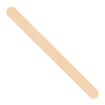 Wooden ice cream stick on a white background