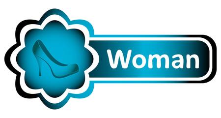 Double icon blue woman shoe