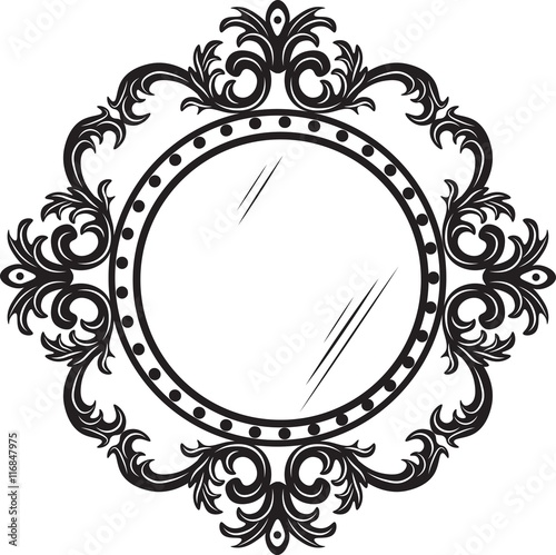 Vintage Round Ornamented Frame Vector Decorated