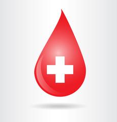 Blood drop symbol.