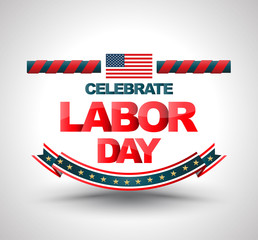 Celebrate labor day banner.