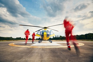 Foto op Canvas Helicopter Air rescue service