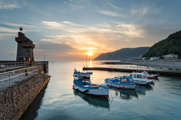 Wall Mural - Sunrise at Lynmouth in Devon