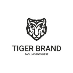 Tiger logo. Tiger head logo. Logo template suitable for businesses and product names. Easy to edit, change size, color and text.