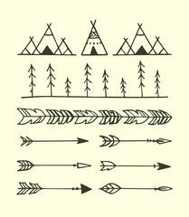 Ethnic ornamental elements