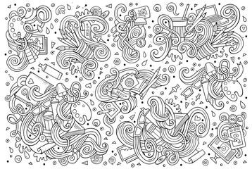 Vector set of design theme items