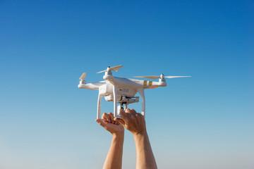 décollage d'un drone