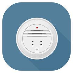 A vector illustration of a smoke alarm flat icon design. Smoke Detector Internet Icon Concept - Fire fighting Symbol.