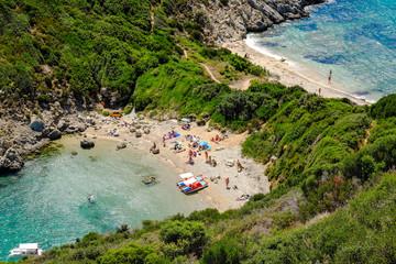 Porto Timoni, the most famous and beautifull beach in Corfu isla
