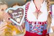 Oktoberfest Frauen Herz