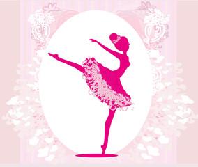 Beautiful ballerina - vintage frame