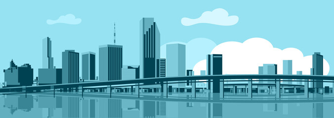 Wall Mural - Miami skyline