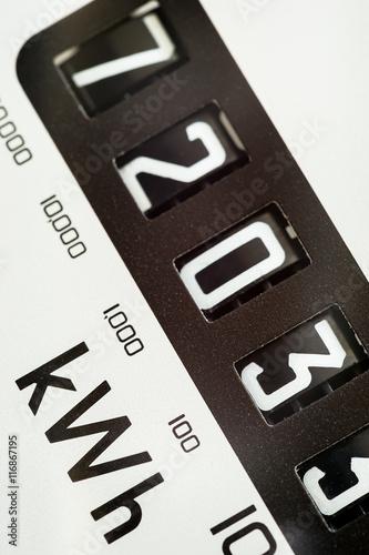 Multimeter Dial Symbols : Quot macro close up of kilowatt symbol and electric meter dial