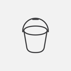 bucket ine icon, outline vector logo illustration, linear pictogram isolated on white