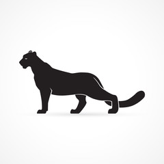 black panther sign on white background