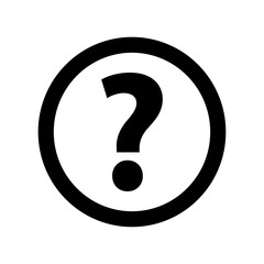 Question Icon Picture on white background, vector illustration