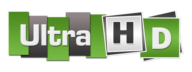 Ultra HD Green Grey Stripes Squares Horizontal