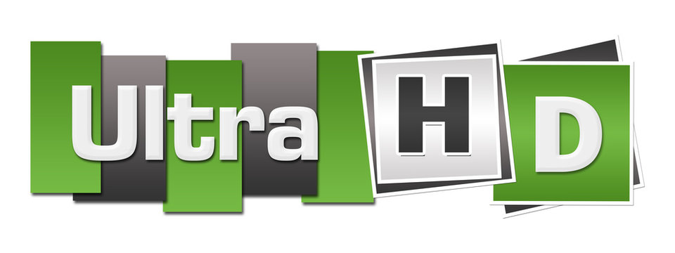 Ultra HD Green Grey Stripes Squares Horizontal