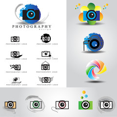 Photography logo set