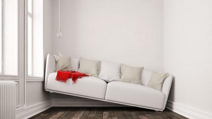 Kleines Wohnzimmer mit Platzproblem Wall mural