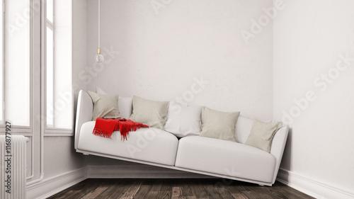 kleines wohnzimmer mit platzproblem stockfotos und lizenzfreie bilder auf bild. Black Bedroom Furniture Sets. Home Design Ideas