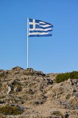Griechische Flagge im Wind
