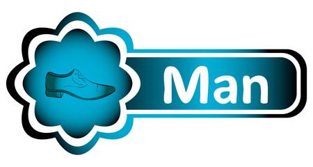 Double icon blue man shoe