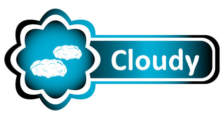 Double icon blue cloudy