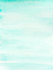 hand painted abstract watercolor teal soft brush strokes color
