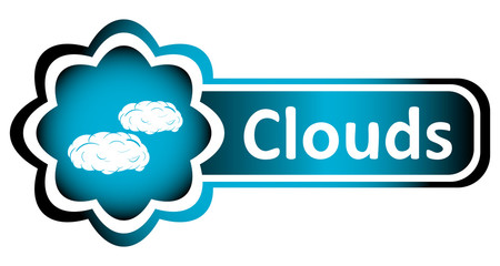 Double icon blue clouds