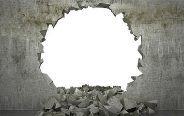 Shattered Wall , muro distrutto