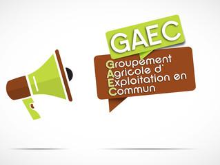 mégaphone : GAEC