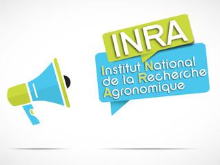 mégaphone : INRA