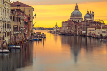 Venice church with sunrise