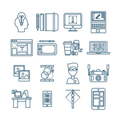 Web Design Linear Icons