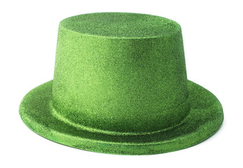Isolated leprechaun hat on a white background.