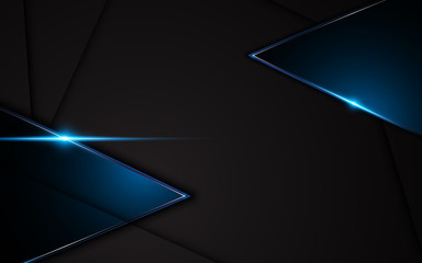 abstract metallic black blue frame sport design concept innovation background