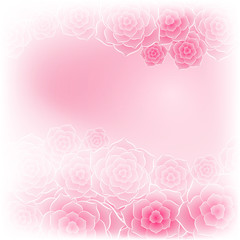 Beautiful pink rose flower background