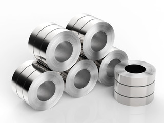heap of roll steels
