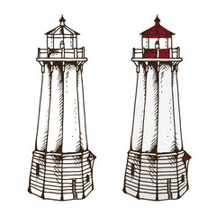 Lighthouse vector illustration