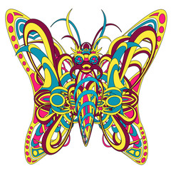 Patterned fantastic creature butterfly