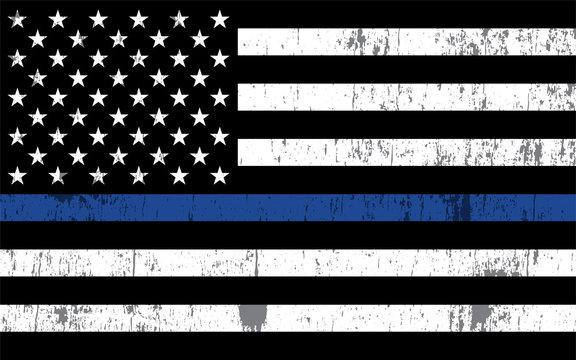 Police Support Flag Illustration