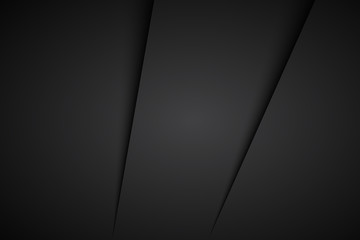 Black abstract background, vector illustration