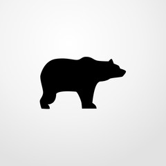 bear icon. bear sign