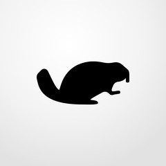 beaver icon. beaver sign