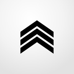 military's stripes icon. flat design