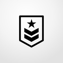 rank icon. flat design